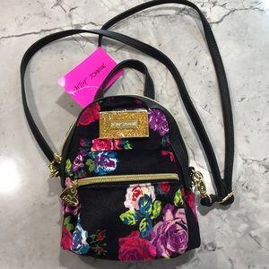 NWT! BETSY JOHNSON Mini Convertible Backpack